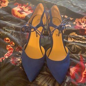 🦋Electric blue tie heels